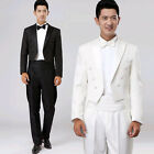 Luxury Men Tuxedo Tailcoat Fitted Formal Wedding Party Dress Suits Coats Pants