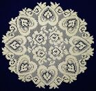 Hearts and Roses Lace Doilies and Table Runners in White or Ivory/Cream