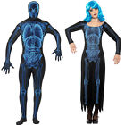 Mens Ladies X-Ray Skeleton Costume – Couples Halloween Fancy Dress Outfit
