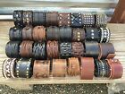 Punk Men Women Wide Genuine Leather Belt Bracelet Cuff Wristband Bangle (usa)