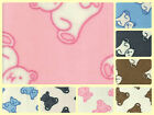 "Anti-Pil Polar Fleece Fabric - Teddies Bears -59"" (150cm) wide -per metre/half"