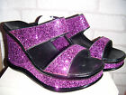 Ladies Update Fuschia Glitter Party Platform Shoes.  Size 7 Only Available