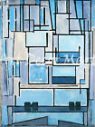 Composition Number 9-Mondrian - - CANVAS OR PRINT WALL ART