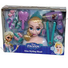 DISNEY FROZEN ELSA ANNA STYLING HEAD 21 PCE HAIR DRYER GIRLS FUN TIARA