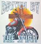 NEW! Mens DRIVEN BY THE SPIRIT Christian Jesus Motorcycle Biker T-Shirt - M - 3X