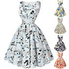 RETRO ROCKABILLY Vintage 1950s 60s Flowers Party Prom Swing Housewife TEA dress