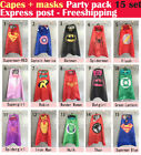 Capes + masks - 15set Party Pack superhero capes and masks - Superman Spiderman