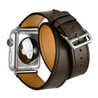 Genuine Leather Band Leather Bracelet Double Tour Watchband for Apple Watch Hot!