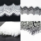 3yds Black Scallop Fabric Polyester Applique Venise Lace Charming Sewing Trim