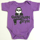 NEW Baby GANGNAM PSY Fans Onesies One Piece Shirt Top Jumper Sizes 0-18 m.o.