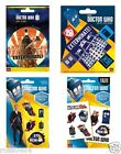 DOCTOR WHO Sticker Pack Selection OFFICIAL Birthday Christmas Stocking Gift Dr