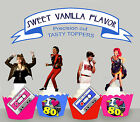 Back to the 80s Eighties Pop Stars Birthday party Cupcake Cake Toppers Cup Cake