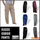 PRO CLUB FLEECE CARGO SWEAT PANTS ProClub Men's Heavyweight Elastic Pants S-7XL