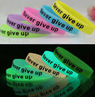 FD2543 Silicone Rubber Elastic Wristband Cuff Bracelet Bangle Glow In Dark ♫