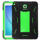 Rugged Hybrid Dual Layer Case Full Body w/Stand Cover for Samsung Galaxt Tab A