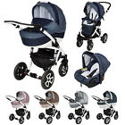 BABY PRAM PUSHCHAIR BUGGY TRAVEL SYSTEM 3IN1 ADAMEX BARLETTA PIK4 STROLLER