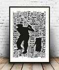 Golf 1: Word art from Gofing terms Spelled out in poster, Wall art.