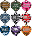 Camo Custom Pet Id Tag for Dogs & Cats Personalized w/ Your Pet's Name & Number