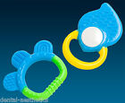 Baby's First Teether & Rattle Set ~ Blue Teething Ring Gift Boys Stocking Filler