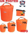 20L 40L 70L DRY BAG CANOE SACK 100% WATERPROOF KIT STORAGE RUCKSACK LINER HIKE