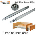 Probrico Ball Bearing Full Extension Soft Close Drawer Slides  or Brackets