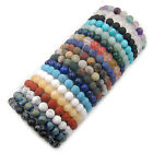 Handmade Natural Gemstone Round Beads Stretch Bracelet 4mm 6mm 8mm 10mm 12mm