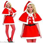 Mrs Christmas Miss CUTIE Santa Fancy Dress & Cape & Hat 8-18