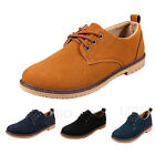 Lot Mens Suede Vintage Retro Shoes Lace up Casual British Driving Oxford Brogue