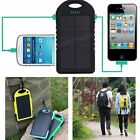 Portable External 5000mAh Dual USB Solar Battery Charger Pack For iPhone Mobile