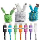 6FT Fabric Braided Charger Cable USB Data Sync FOR apple iPhone X 8 7 6 plus 5s