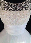 Pearls Short Bridsmaid Dresses Formal Wedding Party Evening Prom Homecoming Gown