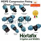 MDPE Compression fittings - Fast delivery from stock
