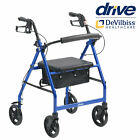 Aluminium Folding Rollator 4 Wheel Walker Mobility Walking Zimmer Frame and seat