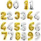 "Foil Balloon 32"" Numbers Gold Silver Color 0-9 Birthday Party Wedding Decor"