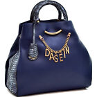 Dasein Charm Tote Handbag with Embossed Trim