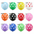 "12"" INCH Multi-Color 10-100 Latex POLKA DOT Balloons for Party Birthday Wedding"