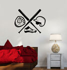 Vinyl Wall Decal Baseball Boys Room Sport Bat Sports Fan Art