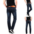 Mens Winter Skinny Slim Fit Jeans Straight - Legs Trousers Pants All Sizes 28-36