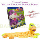 NEW Cuddleuppets Kid's Cuddle Up Animal Blankets Hand Puppets Duck or Bunny