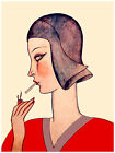 584.Smoking cigarette wal Art Decoration POSTER.Graphics to decorate home office