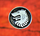2 Medieval Wolf Pewter Shank Buttons 1 Inch (25 mm)