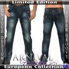 NEW MENS DARK BLUE stitch JEANS FOR MEN JEAN PANTS DENIM WEAR MEN'S CLOTHES man