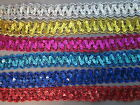 Sequin Metallic Braid Various Colours 3cm   Sewing/Crafts/Costume/Corsetry