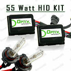 55W HID High Beam Lights Xenon Light Slim Kit Plug N Play Bulb - 9005 HB3 (A)