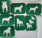 Pack of 7 Dog-2 Dogs Vinyl Glass Etching Stencils