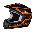 2016 Can-Am BRP Men's X-1 Cross Mission Helmet DOT Orange & White Sizes L-2XL