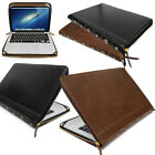 Leather VINTAGE BOOK Smart Laptop Folio Case, Cover Sleeve For chromebooks