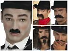 Quality Black Moustache Tash,Edwardian,Chaplin, Musketeer,Chinese Fancy Dress