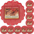 10 YANKEE CANDLE WAX TARTS Sparkling Cinnamon Christmas Xmas Winter MELTS
