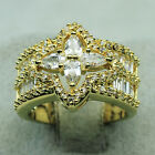 18K Yellow Gold Filled 465CT AAA Clear CZ Women Fashion Jewelry Band Ring R4146